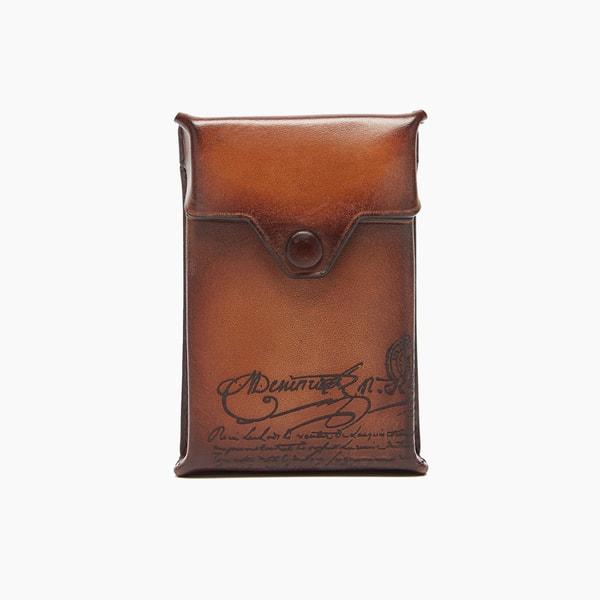 Berluti Scritto Leather Cigarette Case