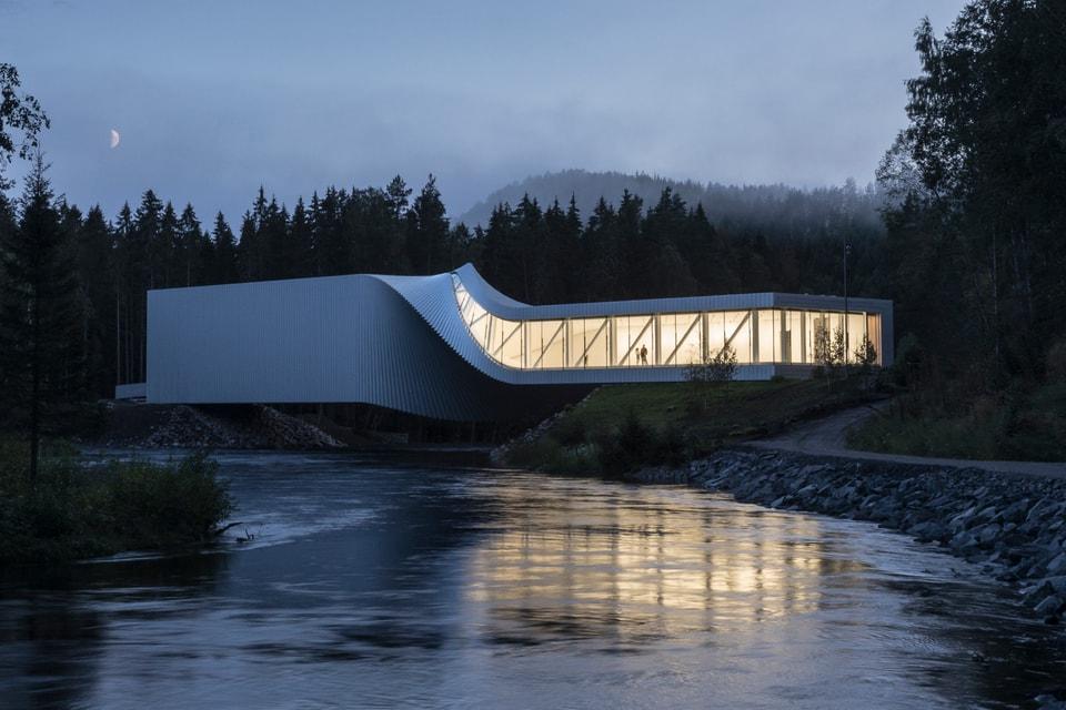 Bjarke Ingels Group Unveils Kistefos Twist Bridge in Jevnaker, Norway