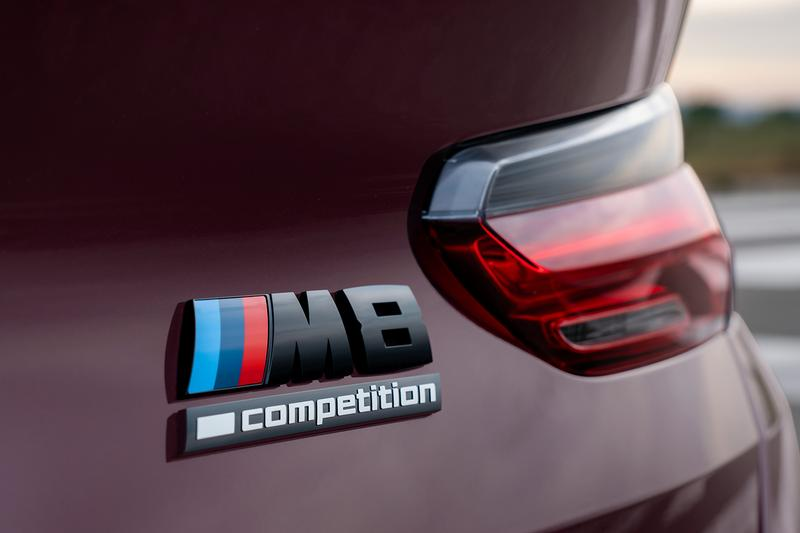 BMW M8 Gran Coupe Unveiled M performance Speed racing purple coupe Sedan Luxury exhaust horsepower