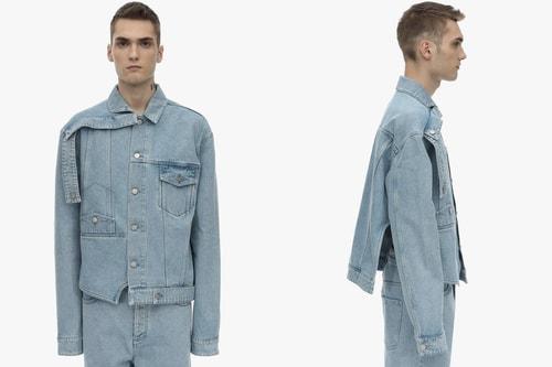 BOTTER Deconstructs Upside Down Cotton Denim Jacket
