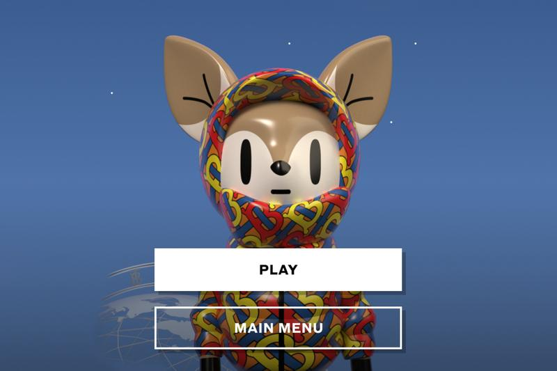 Burberry 'B Bounce' Video Game Launch Riccardo Tisci gaming doodle jump