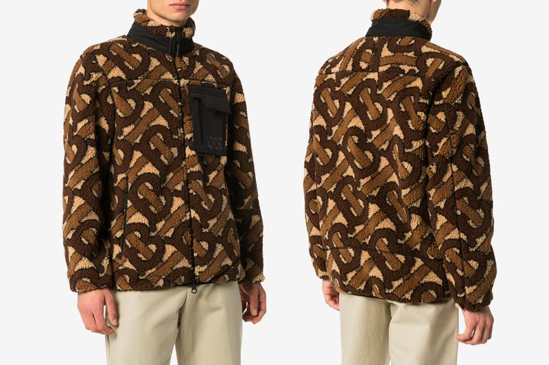 Burberry TB Monogram Fleece Jacket Release sherpa peter saville