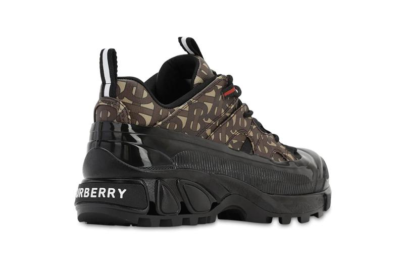 Burberry TB Monogram Arthur Gallica Tech Sneakers Release Information Riccardo Tisci Fall Winter 2019 Footwear Sneaker Drop Cop Vis Tech Chunky Boot-trainer E-Canvas Environmentally Friendly