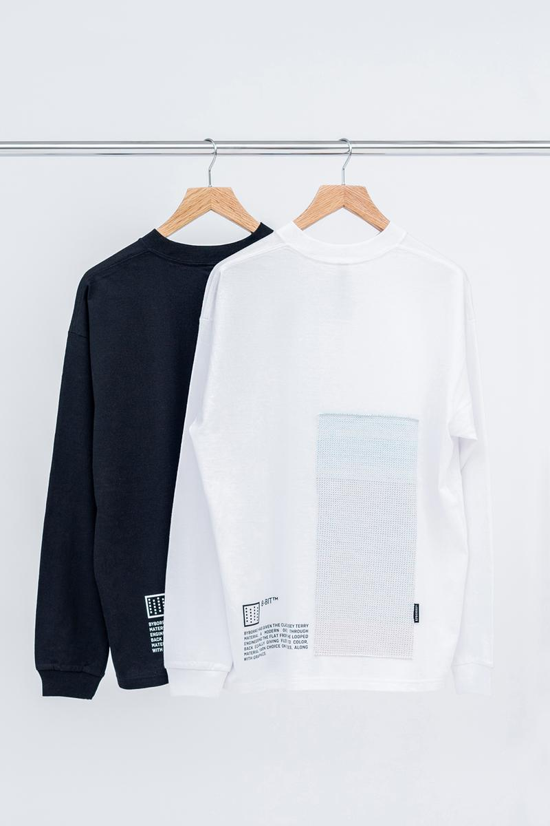 BYBORRE Layered Edition™ DSM Ginza Launch  Capsule Collection Weightmap Sweater Merino Wool Long Sleeve T-shirts Black White 8-bit™ Fabric