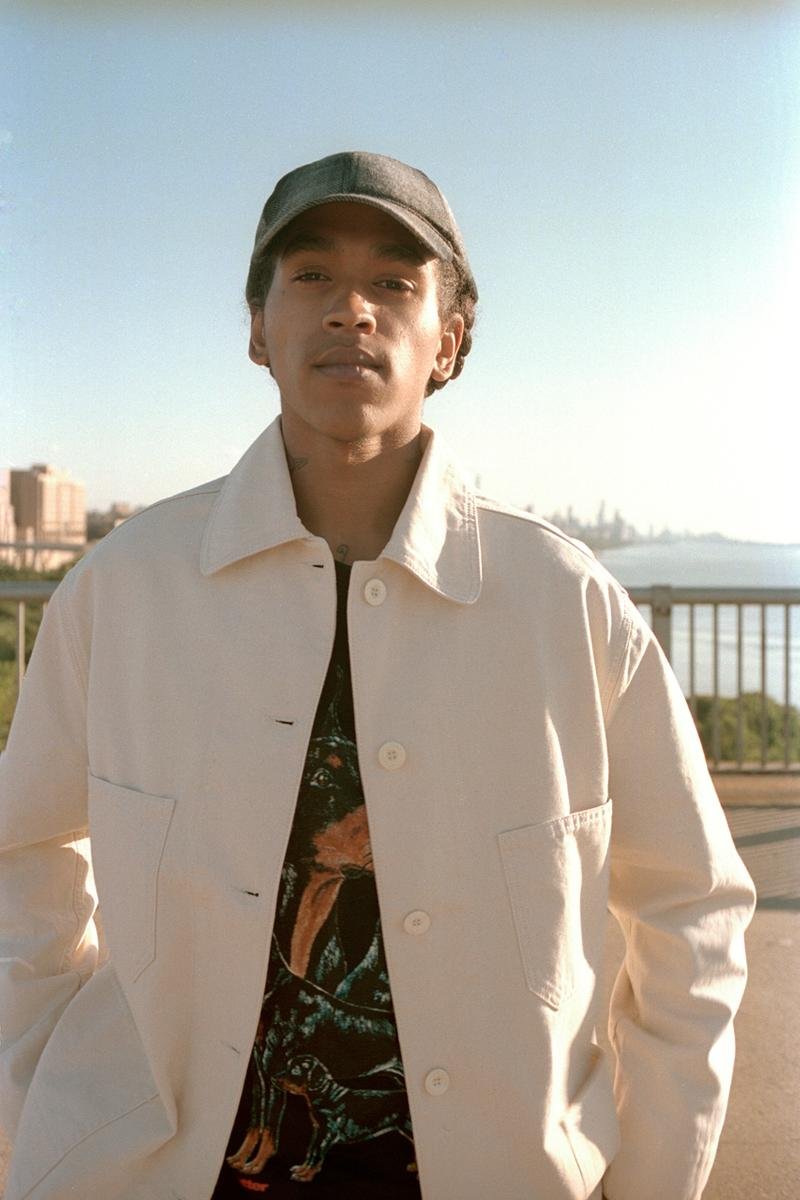 Caliroots Fall/Winter 2019 Lookbook Collection Shirts Pants Sweaters Cardigans Hats Orange Green Cream White Leopard Denim Eytys Aimé Leon Dore Wacko Maria Engineered Garments Converse Chucks Nike Air Force 1s Timberland