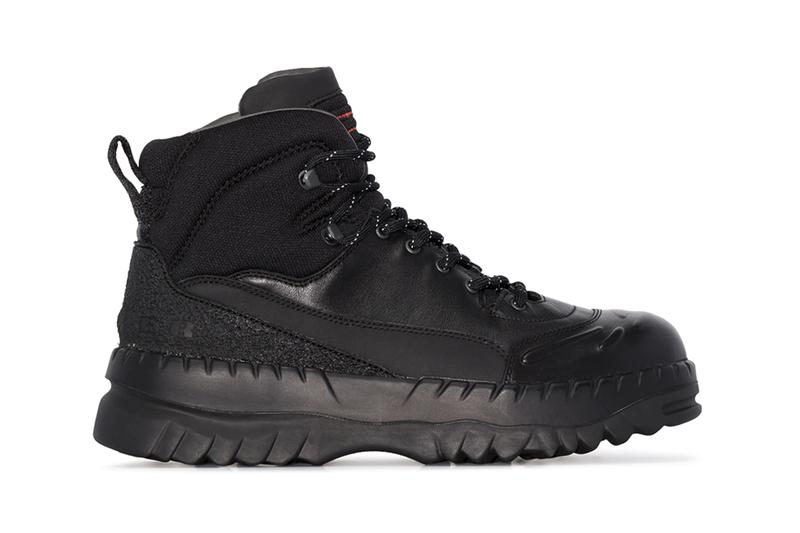 CamperLab x Kiko Kostadinov Black Leather Boots Sneaker White Monochromatic Goretex Ripstop windprood weatherized triple black hiking