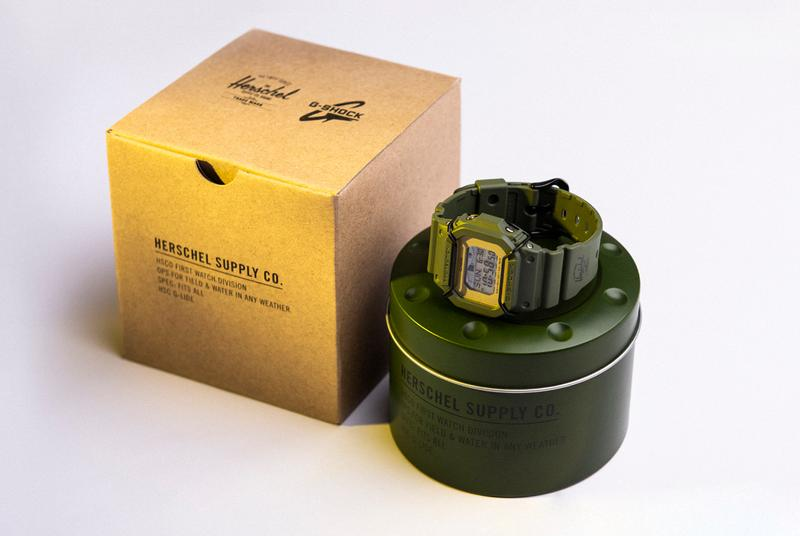 Herschel Supply Co. Casio G-SHOCK Watch Release Military Green Black Herschel G-Lide Black Gold