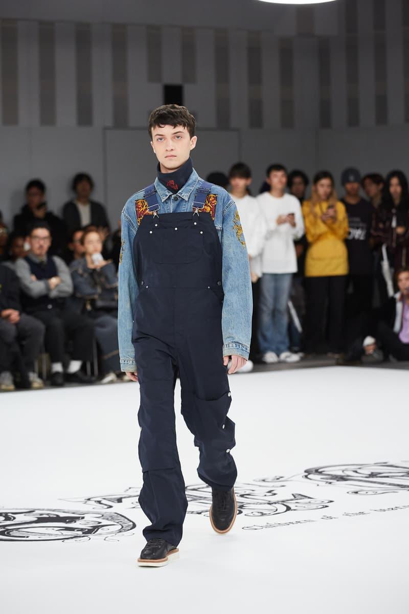 children of the discordance spring summer 2020 ss20 runway show collection tokyo fashion week hideaki shikama bandana print sustainable
