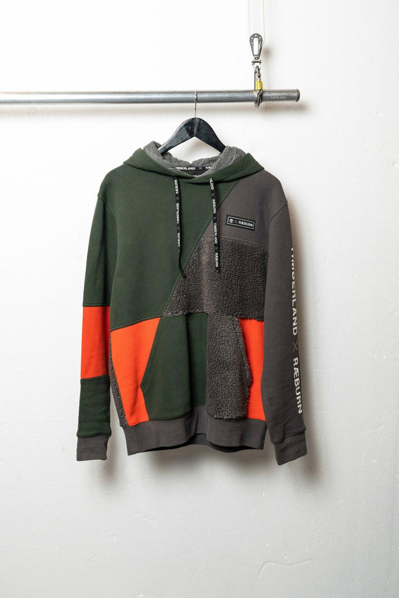 Christopher Raeburn x Timberland Fall 2019 Collaboration fw19 winter collection release date shoe jacket coat hoodie patchwork reduce reuse recycle
