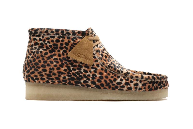 Clarks Originals Wallabee Boots Animal Print leopard cheetah fall 2019 high ankle crepe sole moccasin square toe pony hair leather reinforced
