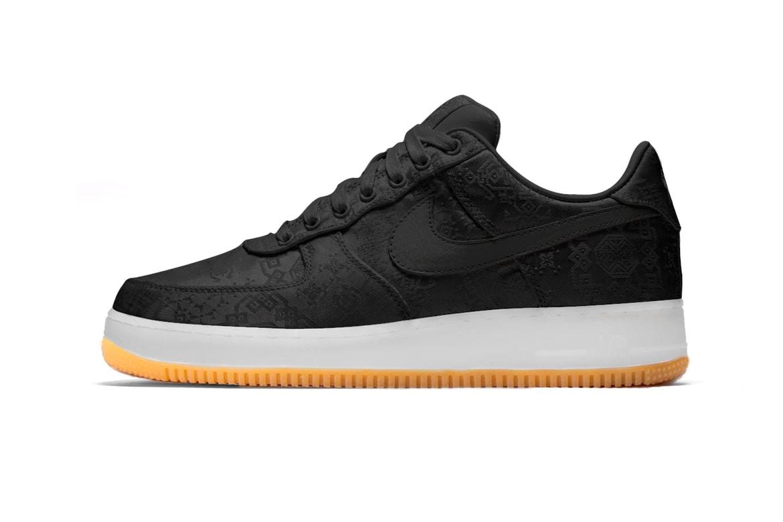 Clot X Fragment X Nike Air Force 1 Black First Look Hypebeast