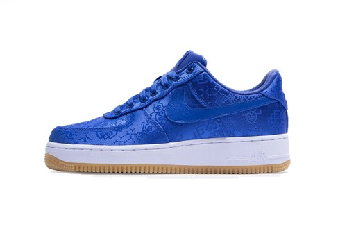 """CLOT & Nike Announce Official Release Date for Air Force 1 """"Royale University Blue Silk"""""""