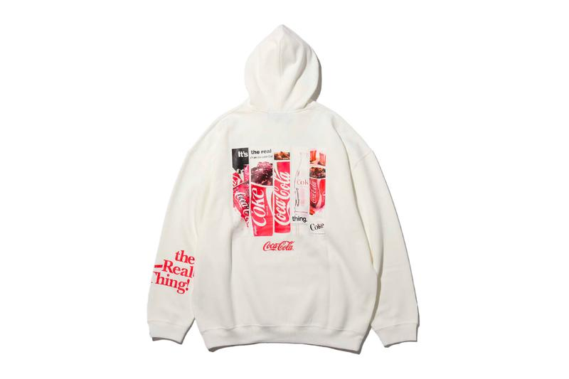 Coca Cola company Atmos Lab Fall Winter 2019 Capsule Collection soft drink beverage black white red apparel collaboration logos Japan