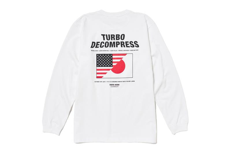"Common Gallery & Paper Work NYC ""TURBO DECOMPRESS"" Exhibtion tokyo zine t-shirt Michael Krim, Angeline Rivas, Mikhail Sokovikov, Adam Tullie, and Jason Aaron Wall."