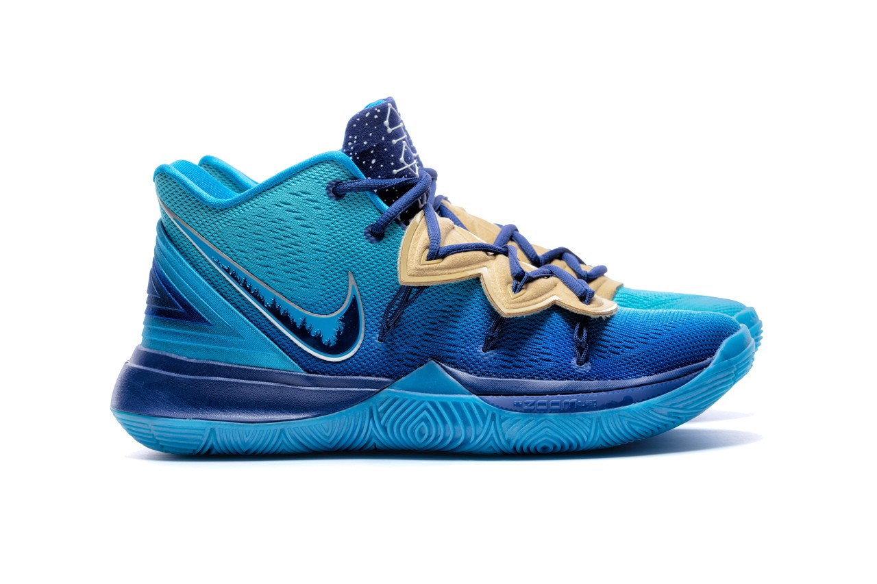 concepts cncpts nike kyrie irving 5 orions belt blue gold Pyramids of Giza egypt water