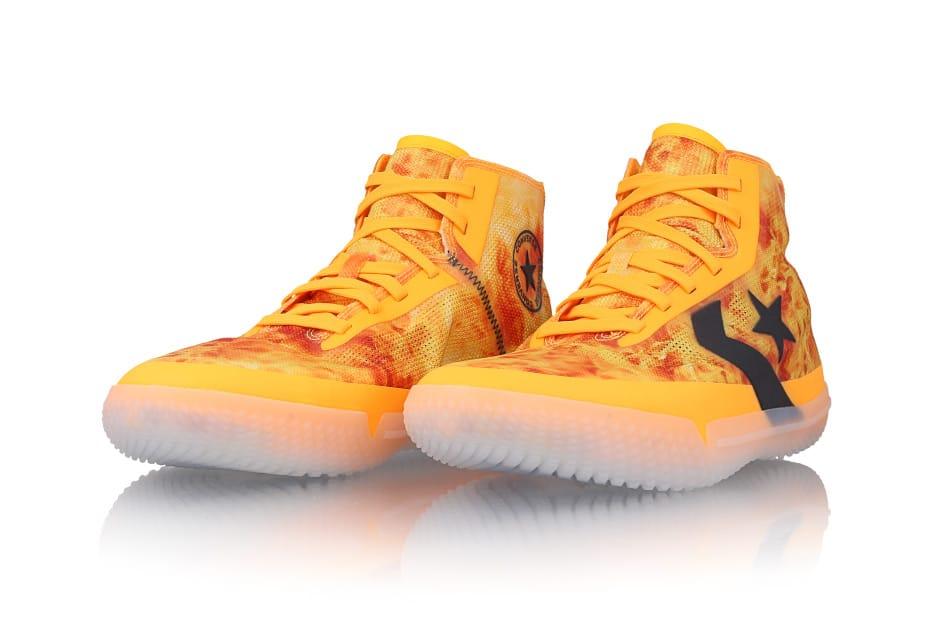 Converse All Star Pro BB High Mens Laser Orange Basketball Shoes 166261C