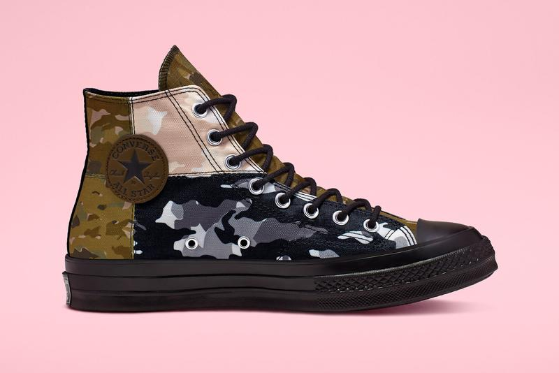 converse chuck 70 high blocked camo 165913c release date taylor woodland snow brown white green utility collection