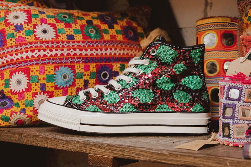 converse pro leather chuck taylor 70 hi high sequin sequins snakeskin black green pink red blue 166560c 165752c