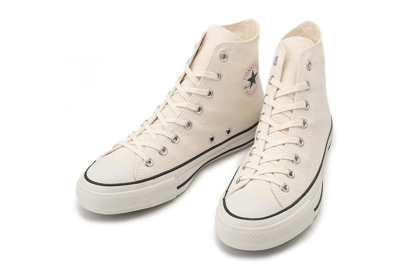 Converse Japan Chuck Taylor All Star Musenshoku natural cotton canvas undyed organic eco friendly water eclab ortholite recycled rubber