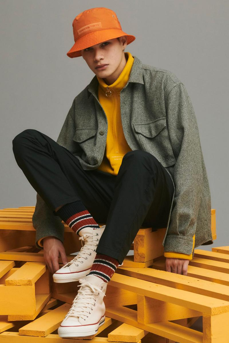 Converse Tokyo Fall Winter 2019 Lookbook facetasm Hiromichi Ochiai collections outre layers jackets coats shoes sneakers apparel japanese