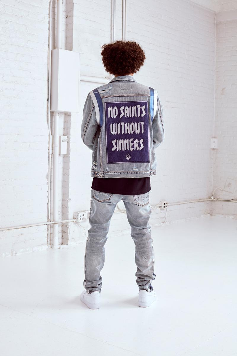 Cult of Individuality Ten Year Anniversary Making Denim Fall/Winter 19 Collection Release Ron Poisson Jackets Puffers Graphics Button Shirts Celebrities Artists Rappers Light Wash Raw Denim Whiskered Wash Sweaters Hoodies Belts Leopard Print