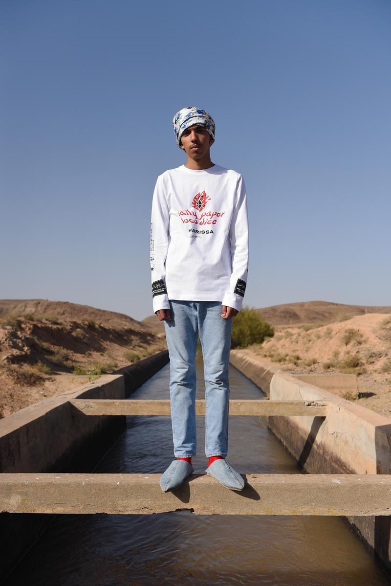 Loco Dice Daily Paper Third Capsule Collection Souks of Maghreb Marrakech Morocco White Saffron Jeleba T-shirts Crewnecks Long Sleeves Caps Red Blue White Hats Caps Gray Green Chili Peppers