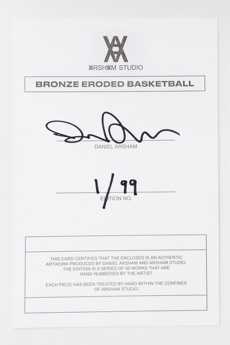 daniel arsham bronze basketball edition sculptures collectibles