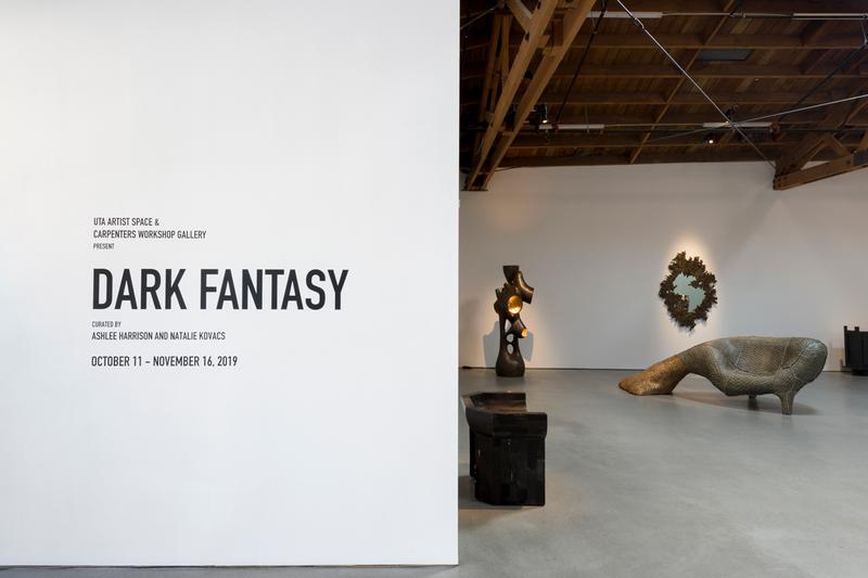 virgil abloh rick owens dark fantasy exhibition uta artist space LA furniture architecture los angeles carpenters workshop gallery