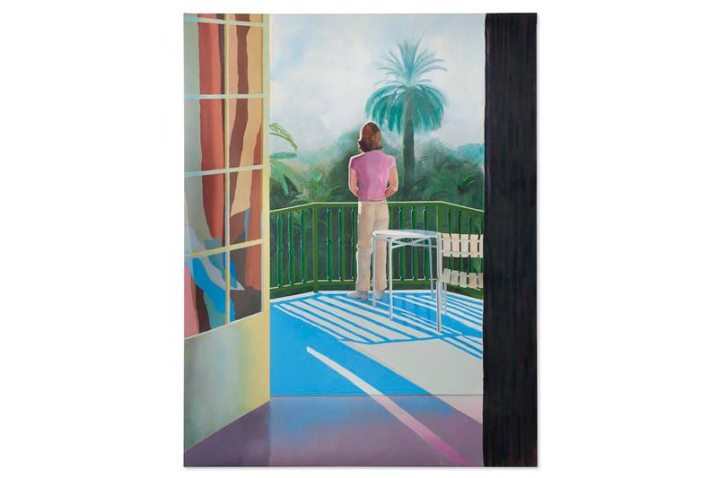 david hockney sur la terrasse christies auction house paintings