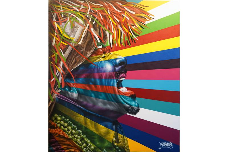 "Kobra ""Larger Than Life Part II"" Exhibit GGA Gallery Wynwood Walls Murals Princess Diana Frida Kahlo Diego Rivera Nelson Mandela Ethnicities Paintings"