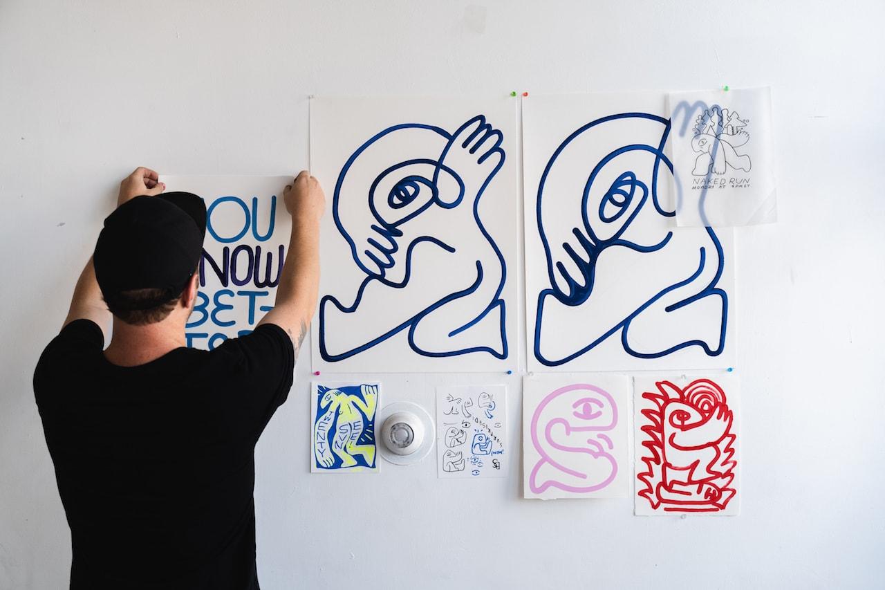 pen and paper efdot exclusive interview murals artworks visual art
