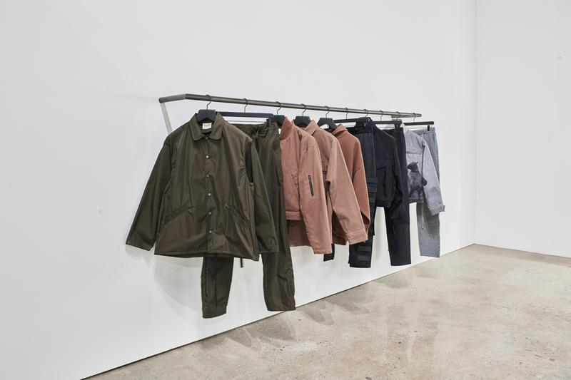 fear of god popup pop up shop los angeles essentials nike mainline product 427 S Hewitt St horse print denim jacket socks 101 suede sneakers jerry lorenzo