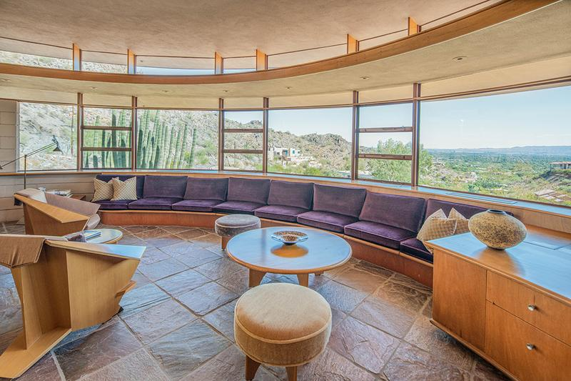 Frank Lloyd Wright Norman Lykes House Auction Heritage Auctions Architecture Design Real Estate Pheonix No-Reserve