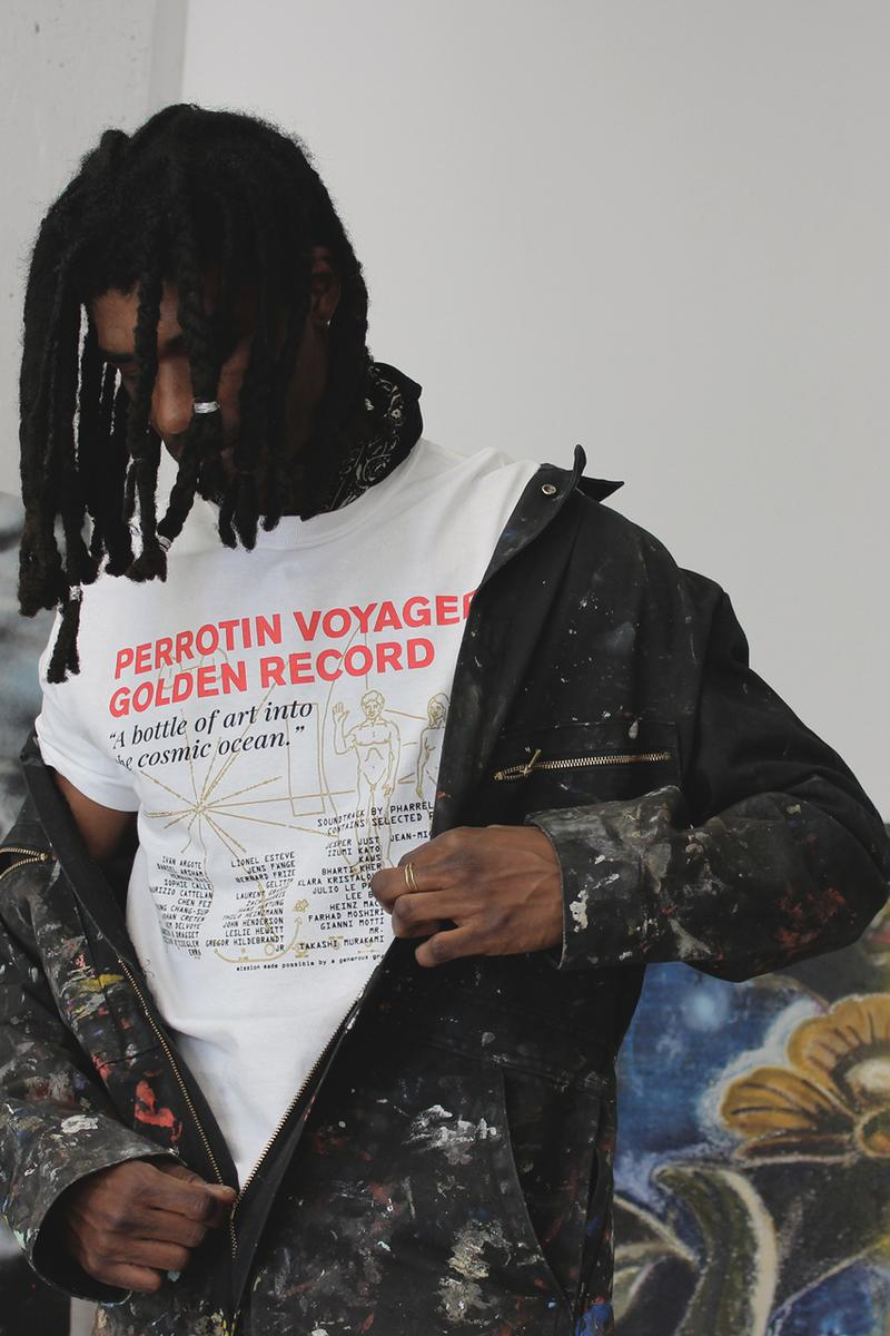 Galerie Perrotin DTF.NYC Exclusive T-shirt Gold Record Takashi Murakami Daniel Arsham Maurizio Cattelan JR Pharrell Williams Emmanuel Perrotin Dutch Tulip Financial