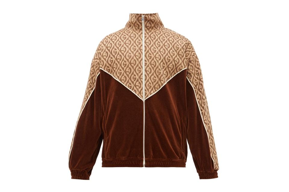 Gucci Drops Logo-Jacquard Velour Track Suit