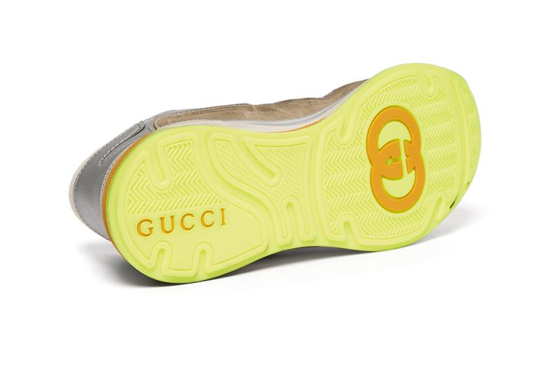 Gucci UltraPace Distressed Grey Leather Suede Sneakers Release Information First Look New Designer Italian Footwear Alessandro Michele Terry Towelling GG logo