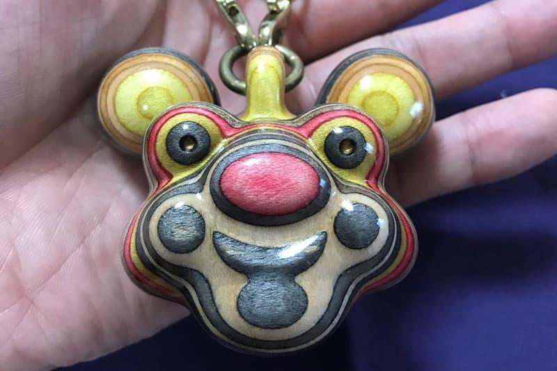 haroshi guzo wood pendant chain artwork jewelry skateboard decks sculptures