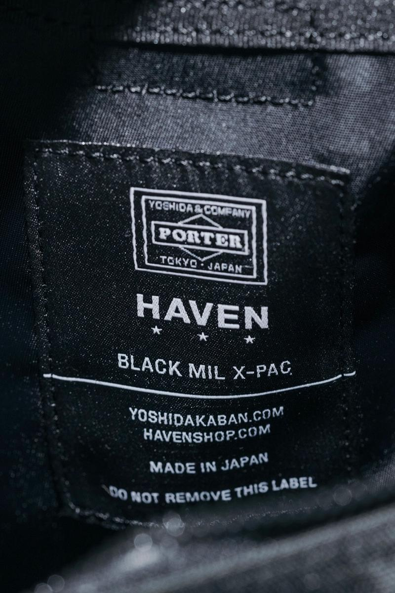 HAVEN Shop PORTER X PAC CORDURA Collection canada retailer bags carrying options triple black collaborations YKK VISLON 840 D