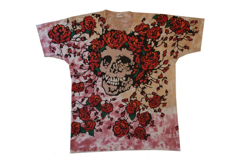 """Heads Will Be Heads """"The Deadhead Collection"""" Exhibition T-shirts The Grateful Dead Psychedelic Tie-Dye Skull Roses Red Green Blue Yellow Orange Black Purple"""