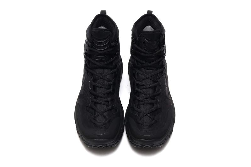 HOKA ONE ONE Tor Ultra Hi Black Triple vibram sole boots chunky footwear shoes sneakers fall winter 2019 Jean Luc Deard Nicholas Marmod