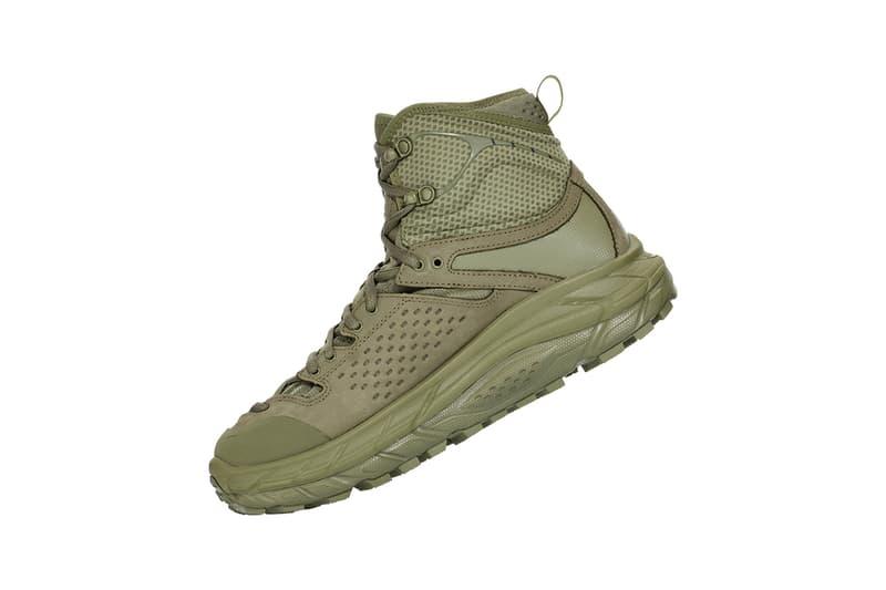 HOKA ONE ONE TOR ULTRA HI 2 WP Olive, Taupe Drop simply burnt colorway release date info japan november 1 2019 boot sneaker hiking trail trek