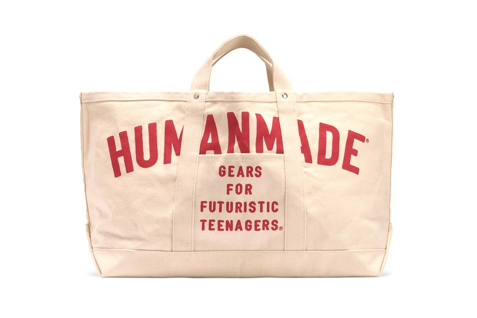 HUMAN MADE Unveils Cream Colored High Oz Tote Bag