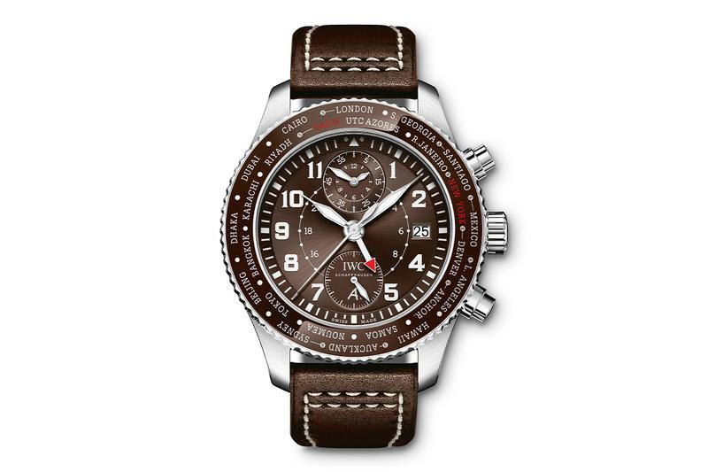IWC Schaffhausen Pilots Watch Timezoner Chronograph Edition 80 Years Flight to New York watches accessories transatlantic flight aviation Antoine de Saint Exupéry