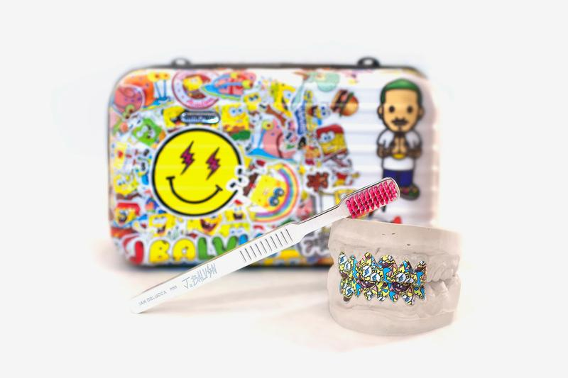 J Balvin Ian Delucca Spongebob Squarepants Grillz Collab Reveal Announcement Release Info 20th anniversary Nickelodeon Toothbrush