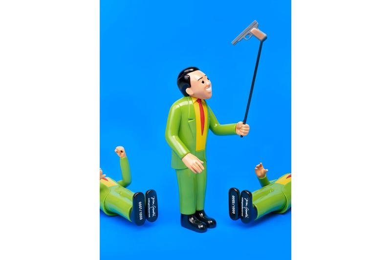 Joan Cornellà 'SELFIE GUN' Vinyl Figure Black Green Red Yellow