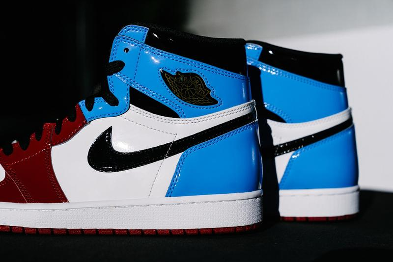 StockX Air Jordan 1 Retro High OG Fearless UNC Chicago University Blue Varsity Red Fearless Ones Collection 10th Anniversary Jordan Hall Of Fame Speech Limits like fears are often just an illusion Patent Leather White Upper black gold jeweled wings black swoosh logo black tongue
