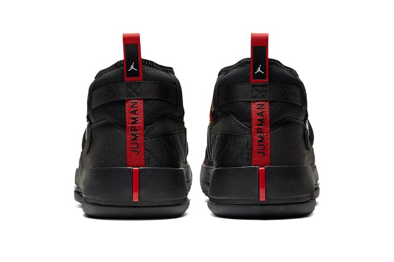 jordan proto 32 9 black red air 33 release date info photos CN5747 001 black university red white