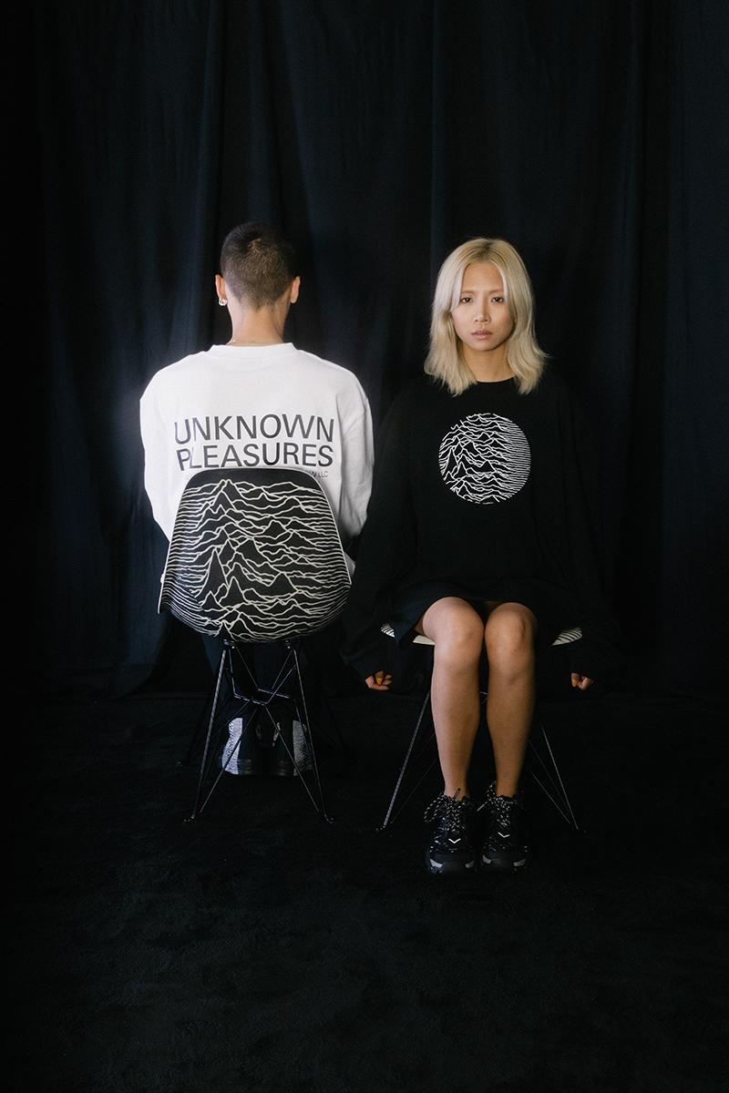 Joy Division by PLEASURES Collection Release Info Date Buy Lookbook Unknown Modernica side shell eiffel chairs
