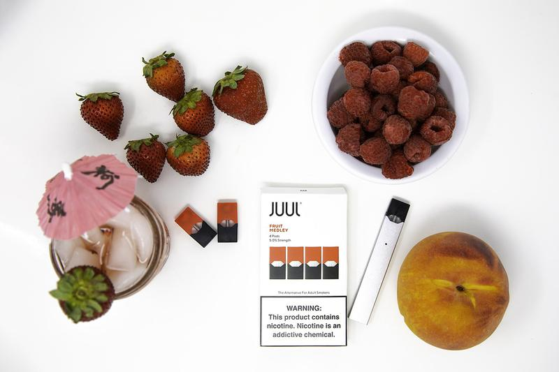 JUUL Halts Fruit Flavored Pod Sale FDA Investigation Probe Company Statement E-cigarette smokers underage lung problems ban advertising minors mango creme fruit cucumber