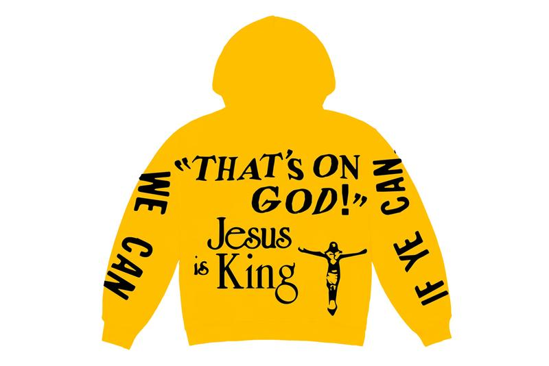 "Kanye West x CPFM 'Jesus Is King' Merch Release info cactus plant fleat market yeezy garments bible verses chick-fil-a ""closed on sunday"" ""on god"" lyrics"